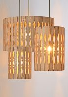 Teakwood Pendant Lamp by Piment Rouge Lighting Bali