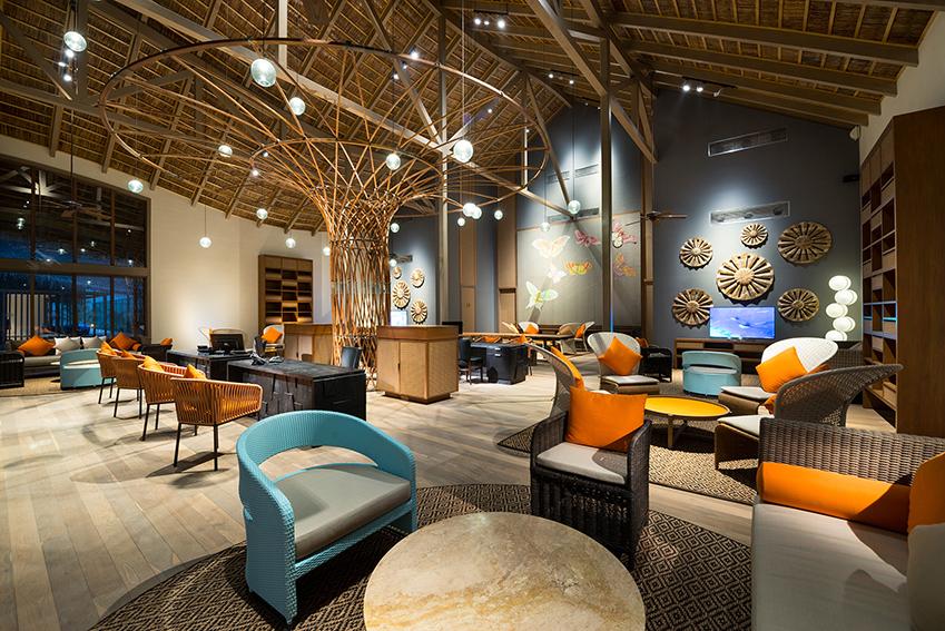 Lounge Club Med Finolhu Villas Maldives Meriem Hall Designs Piment Rouge Lighting Bali