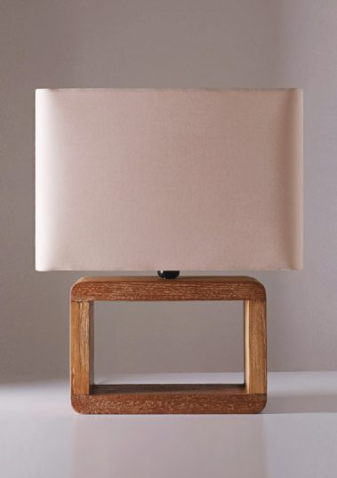 Piment Rouge Lighting Bali - Large Teak Frame Table Lamp