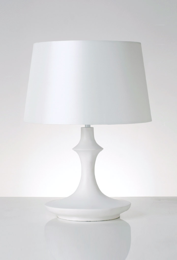 Piment Rouge Lighting Bali - White Khazastan Table Lamp