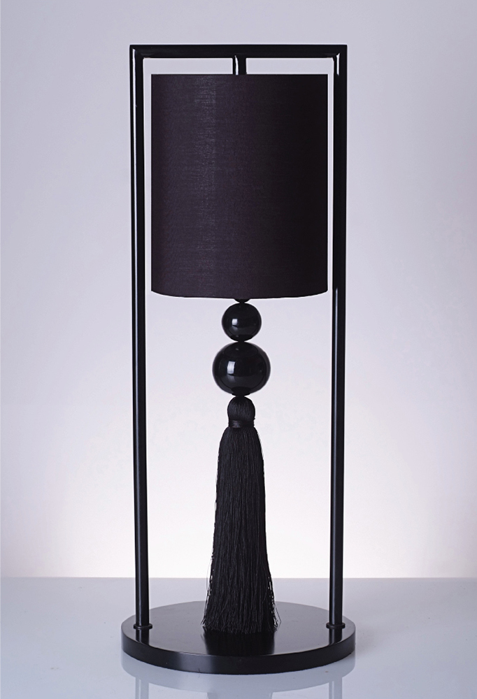 Piment Rouge Lighting Bali - Chester Table Lamp in Black