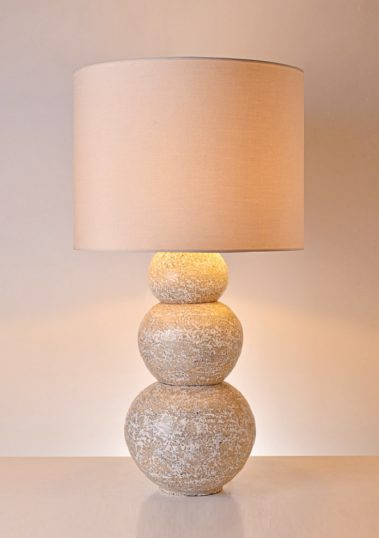 Piment Rouge Lighting Manufacturer Bali - Cream Priuk Ball Table Lamp
