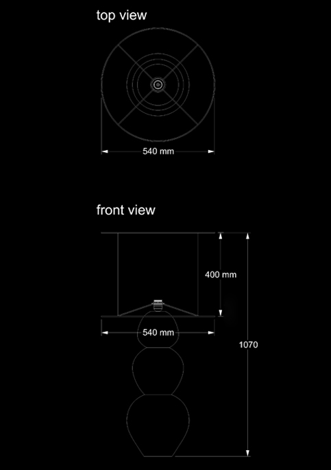 table lamp ball priuk technical drawing