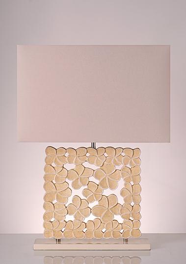 table lamp frame frangipani yellow