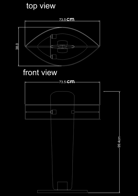 table lamp table isos technical drawing