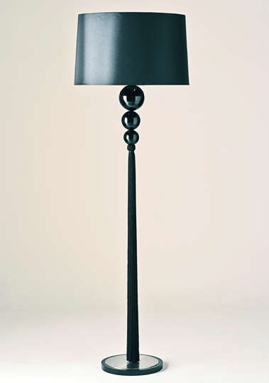 Black Loren Floor Lamp by Piment Rouge Lighting Bali