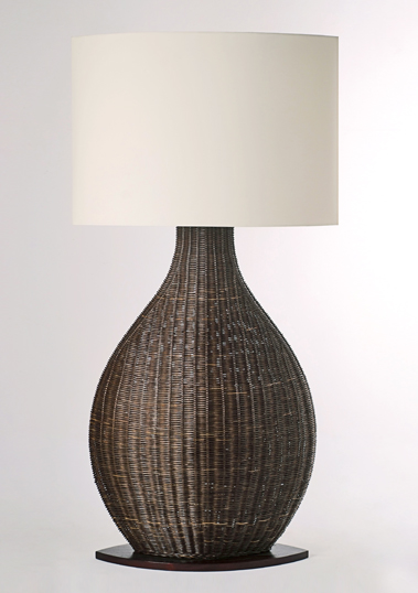 Brown Porto Floor Lamp by Piment Rouge Lighting Bali