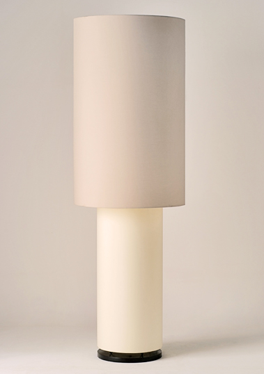 Large Broken White Zenwood Floor Lamp by Piment Rouge Lighting Bali