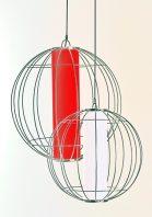 Large & Medium Globe Lantern Pendant by Piment Rouge Lighting Bali
