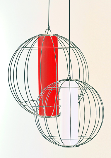 Large & Medium Globe Lantern Pendant by Piment Rouge Lighting Bali