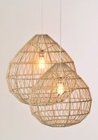 Large & Medium Trapesium Pendants by Piment Rouge Lighting Bali