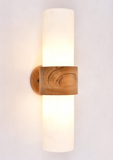 Piment Rouge Lighting Bali - Resin Sokar Sconce in Teakwood