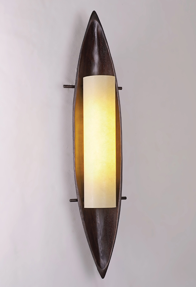 Piment Rouge Lighting Bali - Wooden Boat Sconce