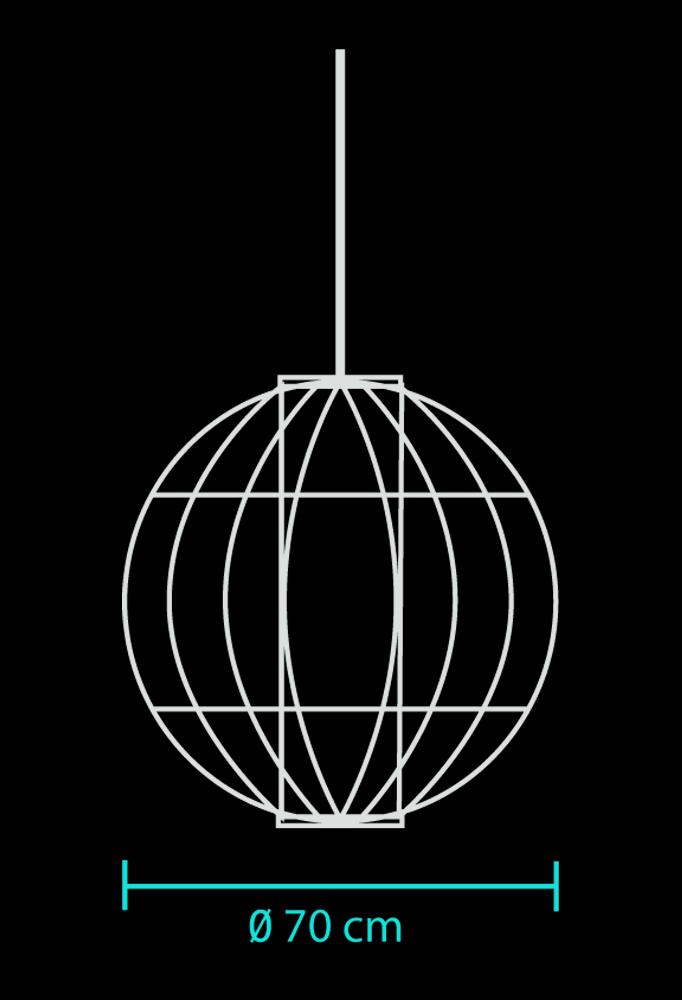 Piment Rouge Lighting - Large Globe Lantern Technical DrawingPiment Rouge Lighting - Large Globe Lantern Technical Drawing