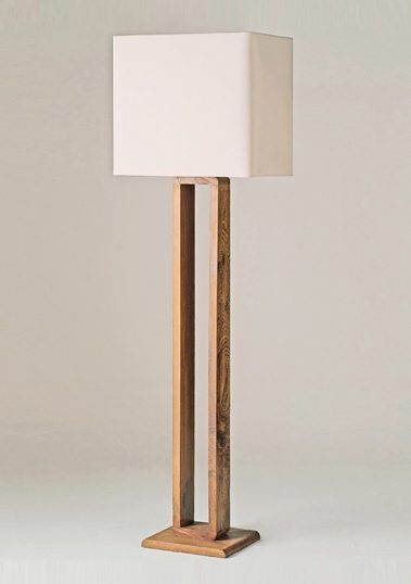 Piment Rouge Lighting Manufacturer Bali - Teak Frame Standing Lamp