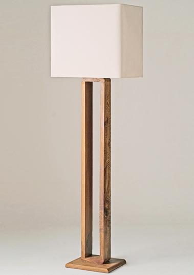 Teak Frame Floor Lamp by Piment Rouge Lighting Bali