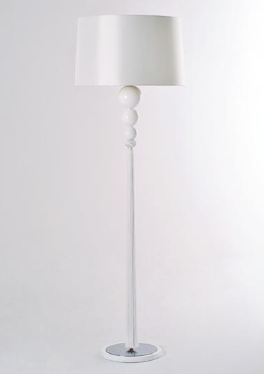 White Loren Floor Lamp by Piment Rouge Lighting Bali