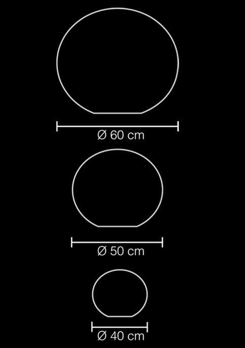floor lamp ball shell sempeng l technical drawing