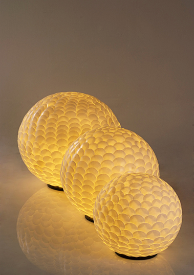 floor lamp ball shell sempeng l