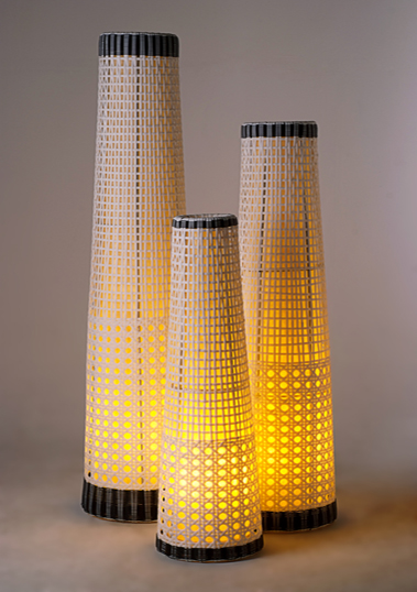 floor lamp lythos synthetic m rattan