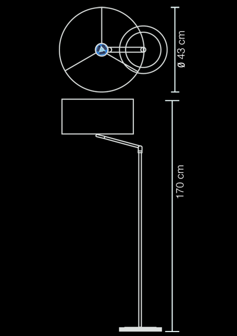 floor lamp nico l technical drawing