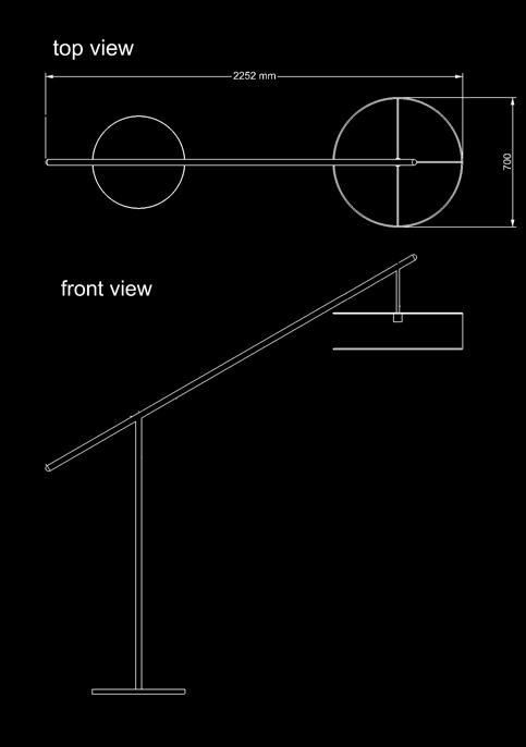 floor lamp floor t technical drawing