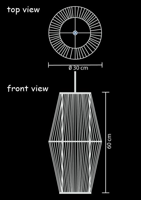 hanging lamp ufo long technical drawing