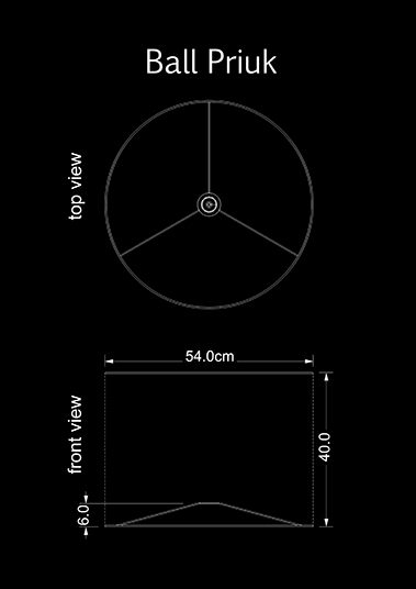 lampshade cylinder ball priuk technical drawing