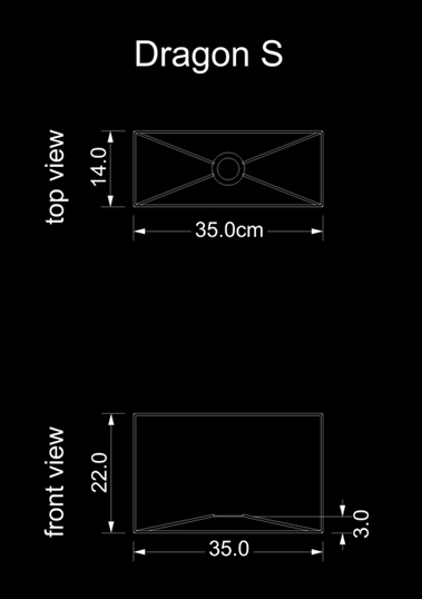 lampshade square dragon s technical drawing