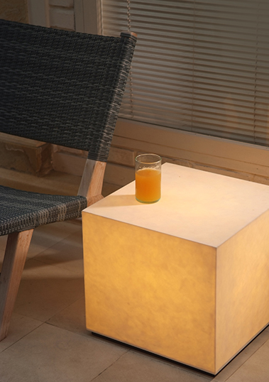 outdoor lamp cube resin led xl