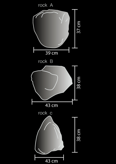 outdoor lamp rock led a technical drawing
