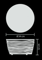 outdoor lamp table resin led s technical drawing