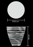 outdoor lamp table resin xl technical drawing