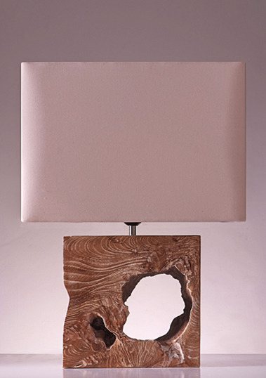 table lamp kayu teak white