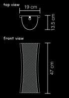 wall lamp anyaman s technical drawing