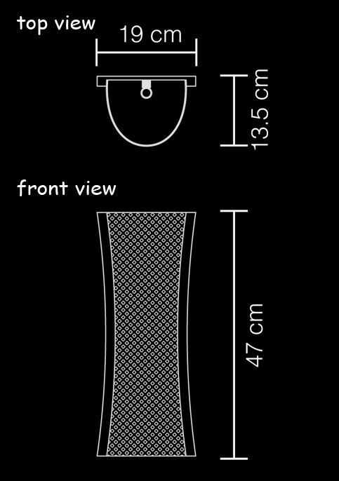 wall lamp anyaman s technical drawing