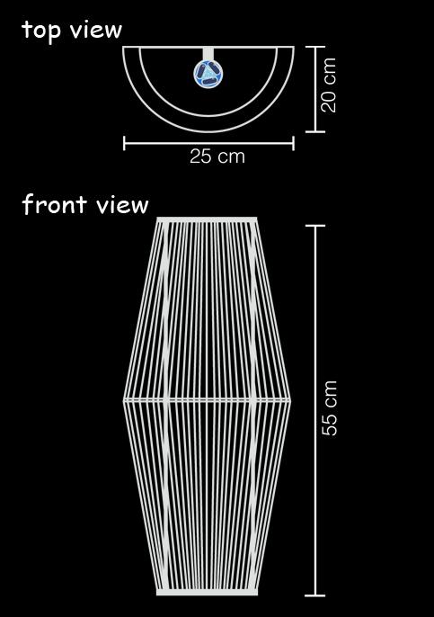 wall lamp iron technical drawing