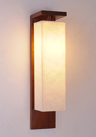 wall lamp prado long resin long teak wood