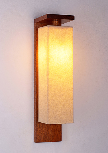 wall lamp prado long resin sand merbau wood