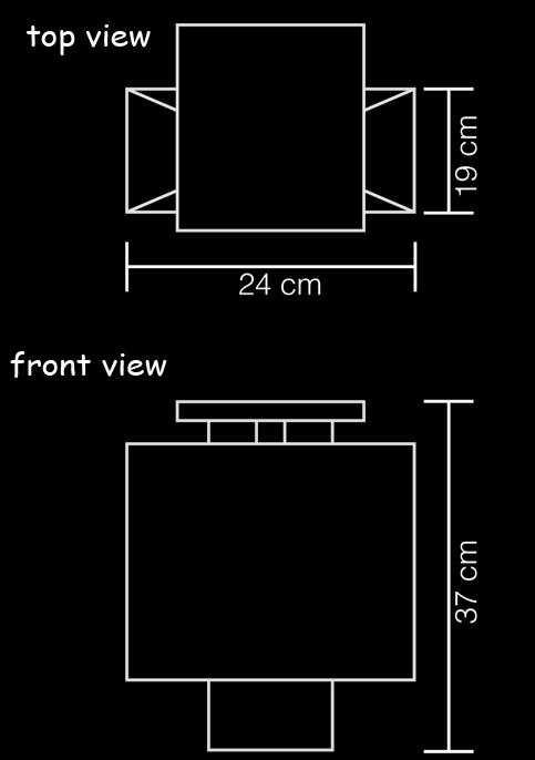 wall lamp prado technical drawing