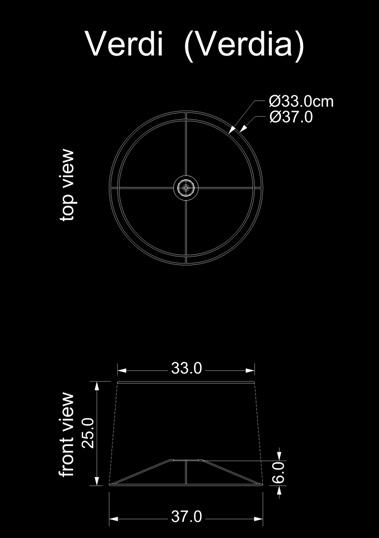 lampshade conical verdi verdia technical drawing