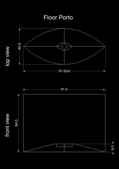 lampshade curved drun floor porto technical drawing