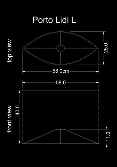 lampshade curved drun porto lidi l technical drawing