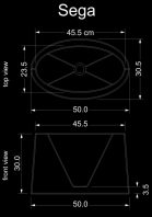 lampshade curved drun sega technical drawing