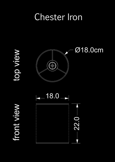 lampshade cylinder chester iron technical drawing