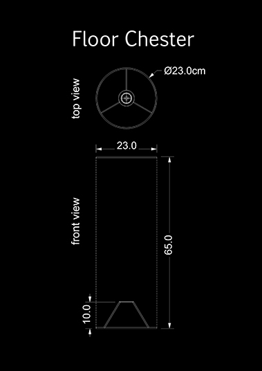 lampshade cylinder floor chester technical drawing