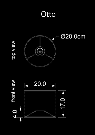 lampshade cylinder otto technical drawing