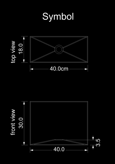 lampshade square symbol technical drawing