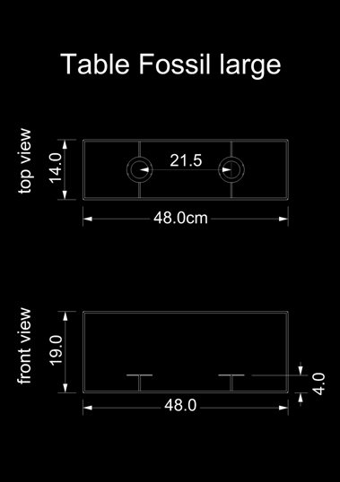 lampshade square table fossil large technical drawing