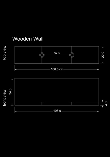 lampshade square wooden wall technical drawing